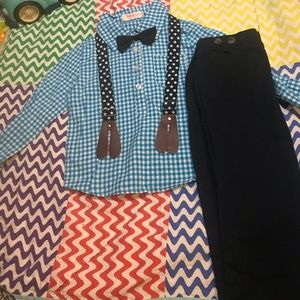 Adorable 2T Easter outfit with star suspenders